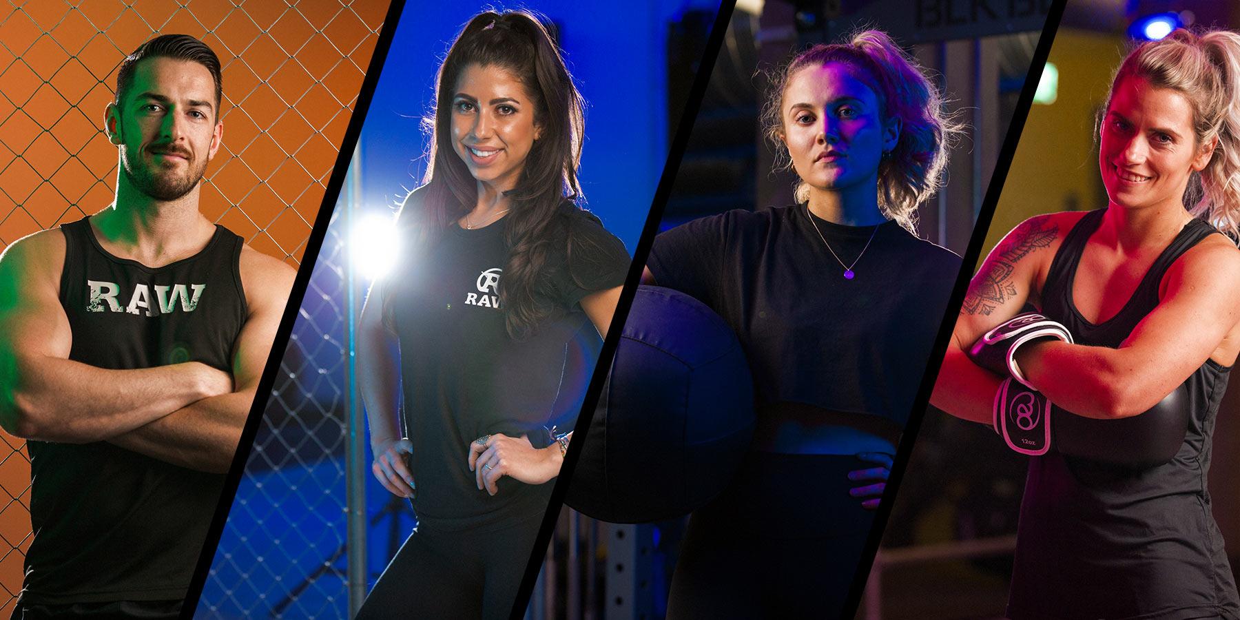 4 personal trainers superheroes